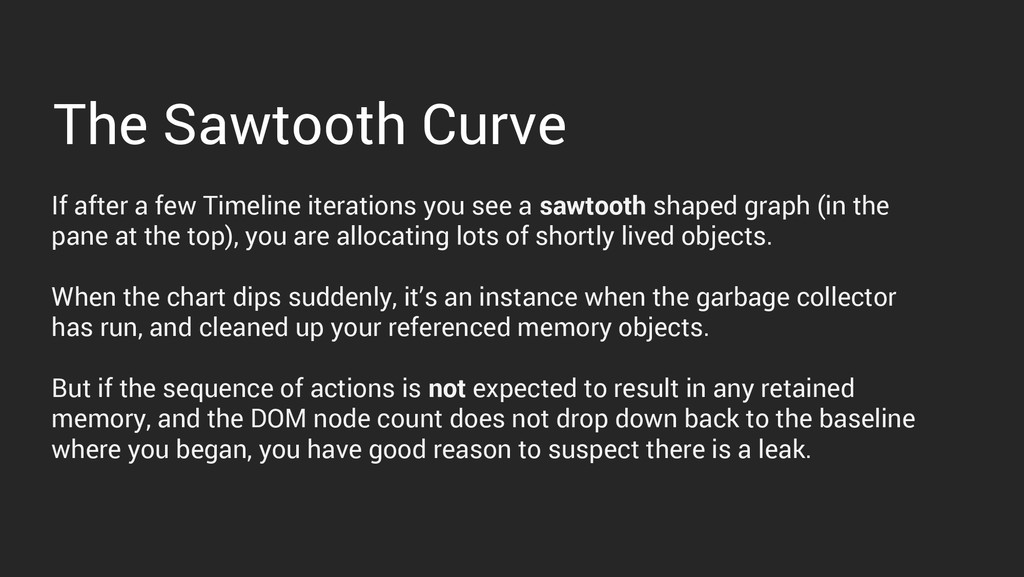 The Sawtooth Curve If after a few Timeline iter...