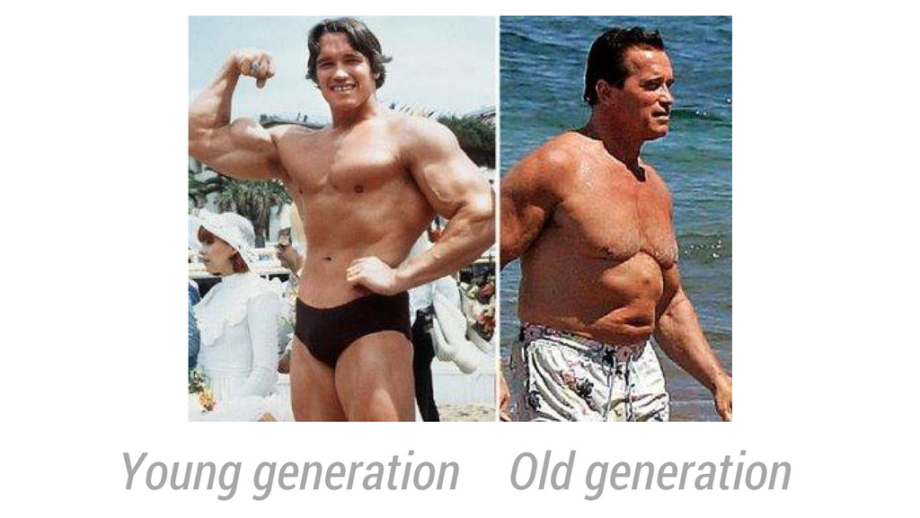 Young generation Old generation
