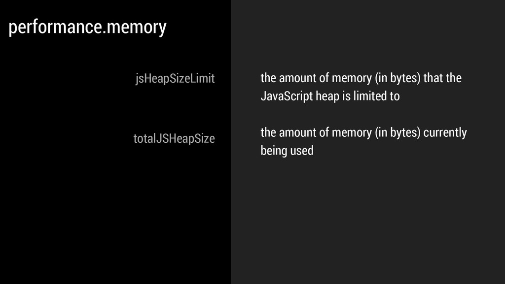 the amount of memory (in bytes) that the JavaSc...