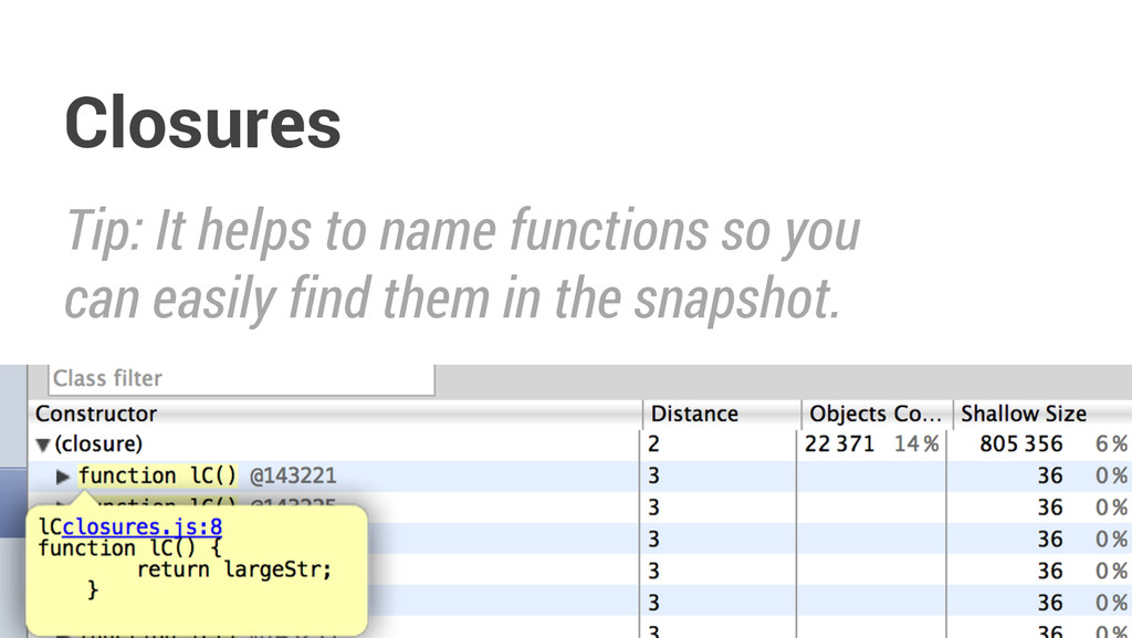 Tip: It helps to name functions so you can easi...