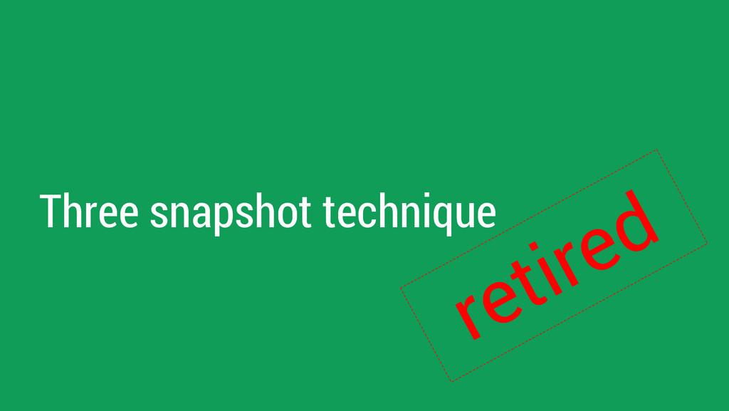 Three snapshot technique retired