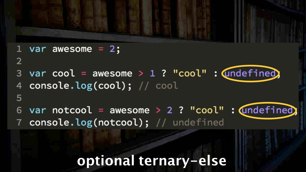 optional ternary-else