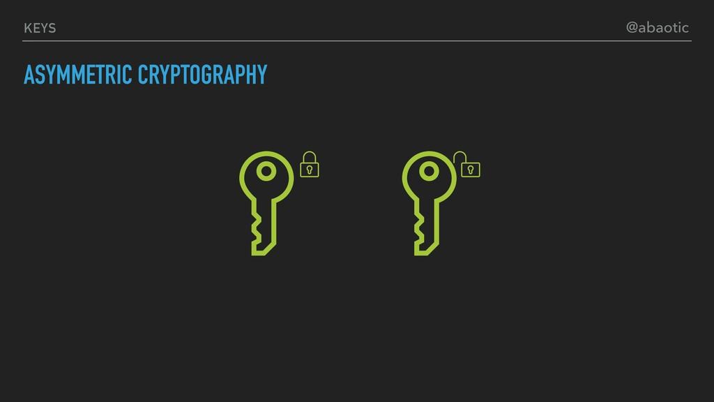 KEYS ASYMMETRIC CRYPTOGRAPHY @abaotic
