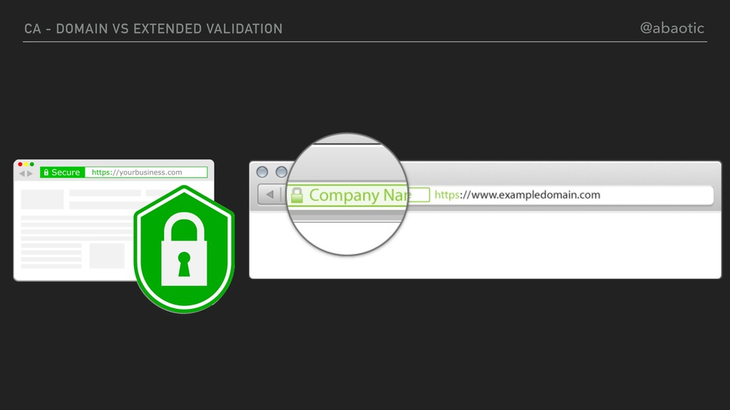 CA - DOMAIN VS EXTENDED VALIDATION @abaotic