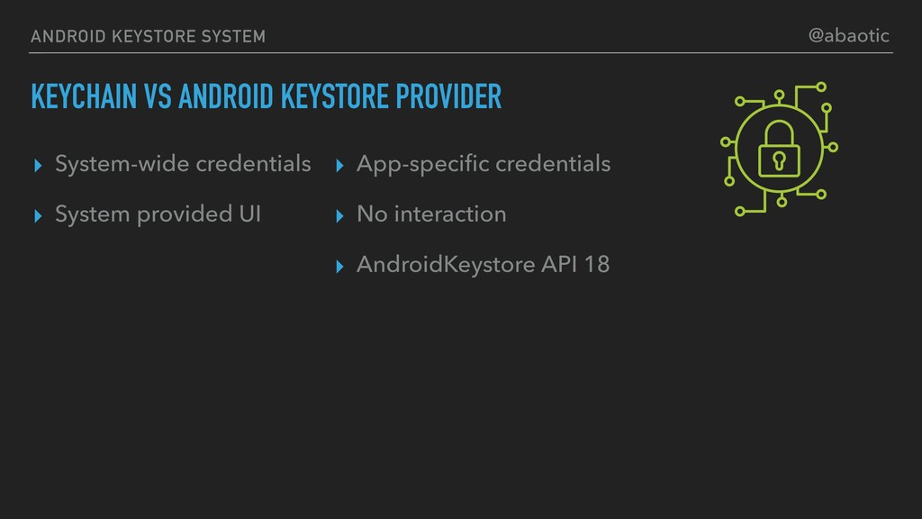 ANDROID KEYSTORE SYSTEM KEYCHAIN VS ANDROID KEY...