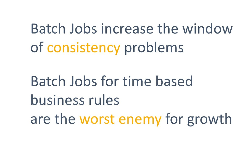 Batch Jobs increase the window of consistency p...