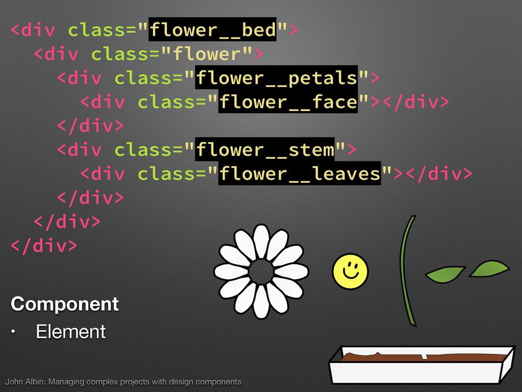 """<div class=""""flower__bed""""> <div class=""""flower""""> ..."""