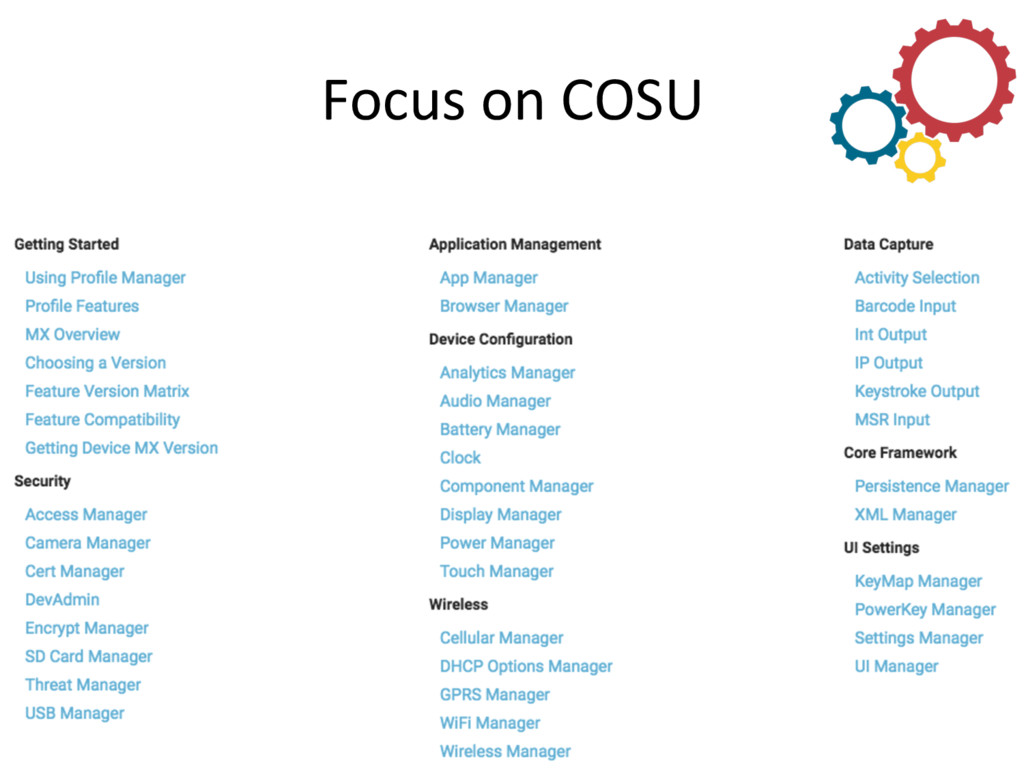 Focus on COSU