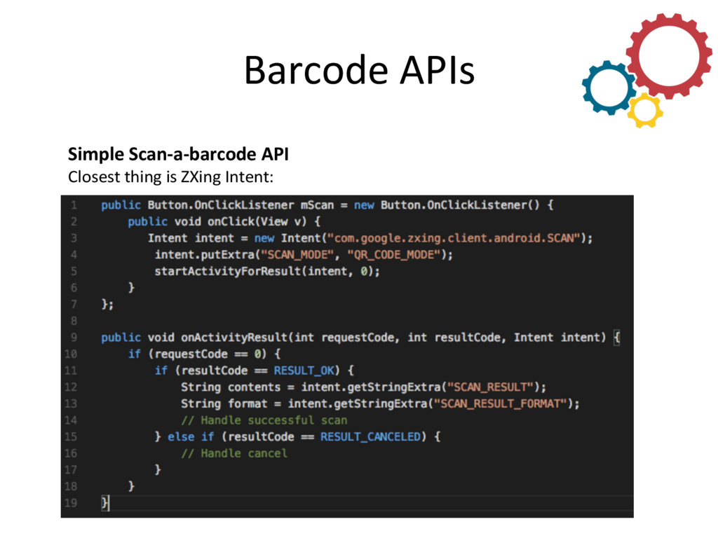 Barcode APIs  Simple Scan-‐a-‐barcod...