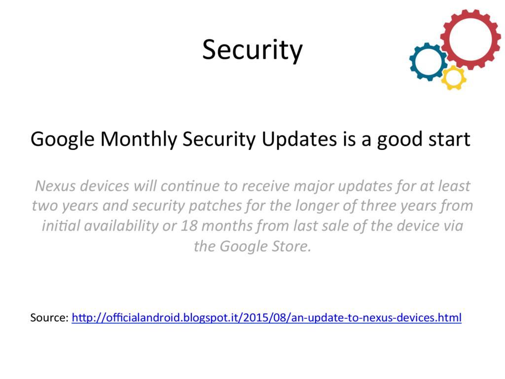 Security  Google Monthly Security U...