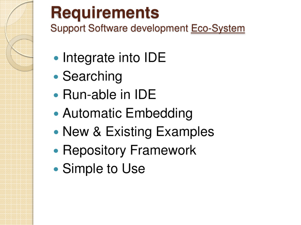 Requirements System - Eco Support Software deve...
