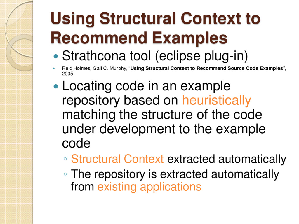 Using Structural Context to Recommend Examples ...