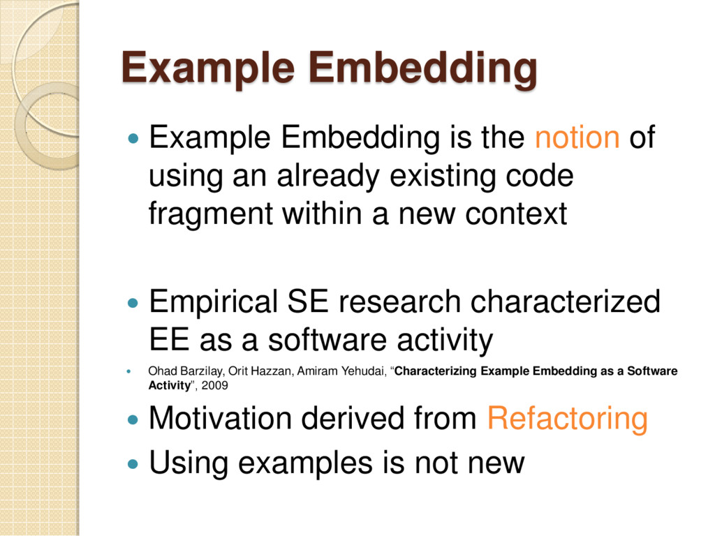 Example Embedding  Example Embedding is the no...