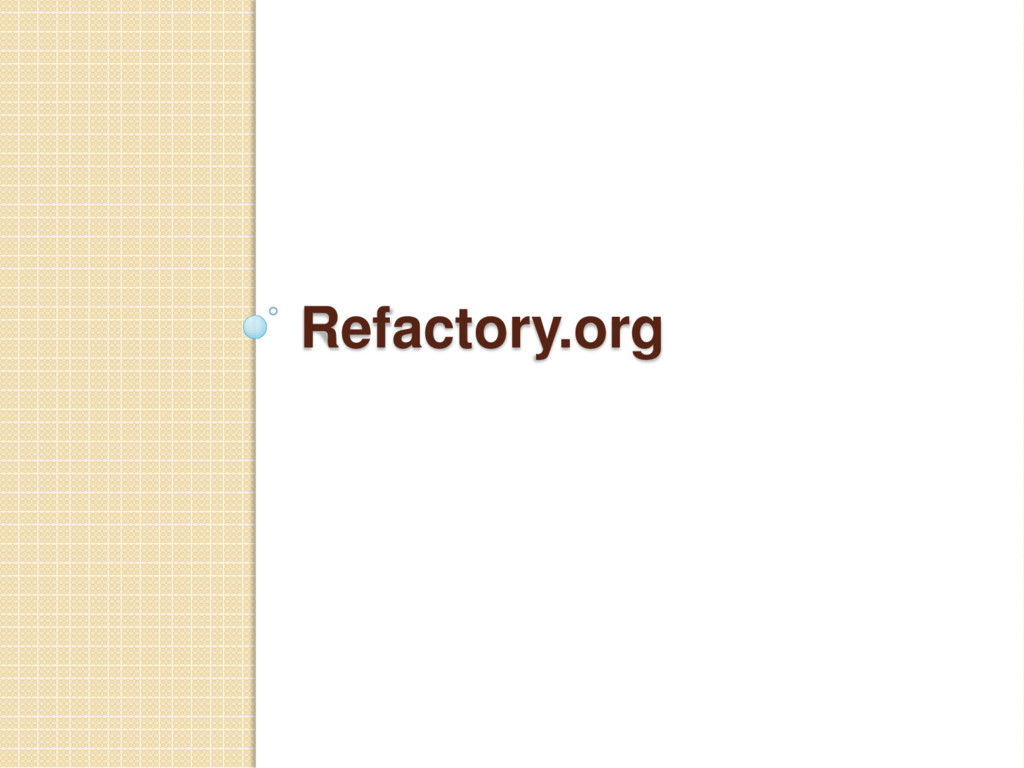 Refactory.org