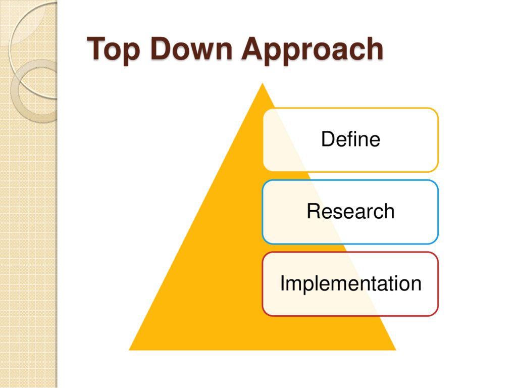 Top Down Approach Define Research Implementation