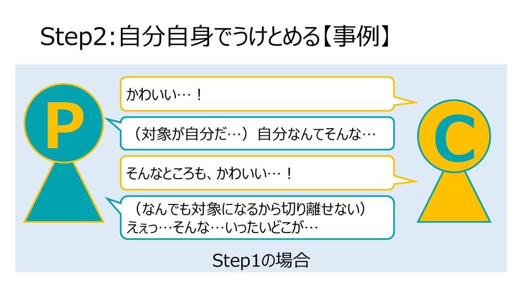 Step1の場合 Step2:自分自身でうけとめる【事例】 C P かわいい…! (対象が自分...