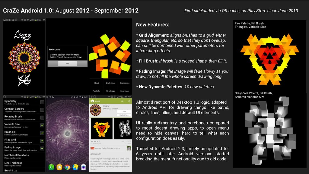 CraZe Android 1.0: August 2012 - September 2012...