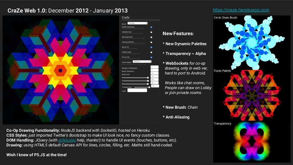New Features: * New Dynamic Palettes * Transpar...