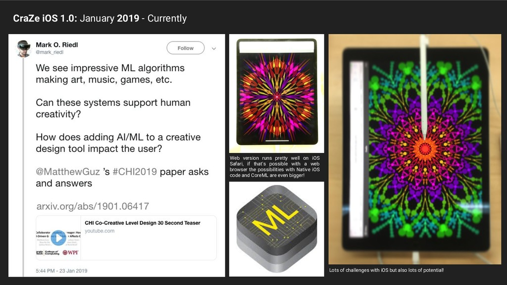 CraZe iOS 1.0: January 2019 - Currently Web ver...