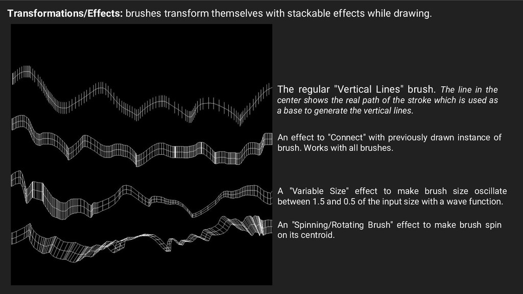 Transformations/Effects: brushes transform them...
