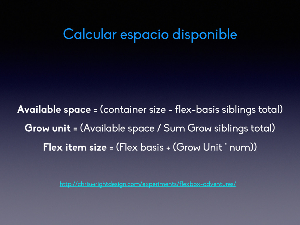 Available space = (container size - flex-basis ...