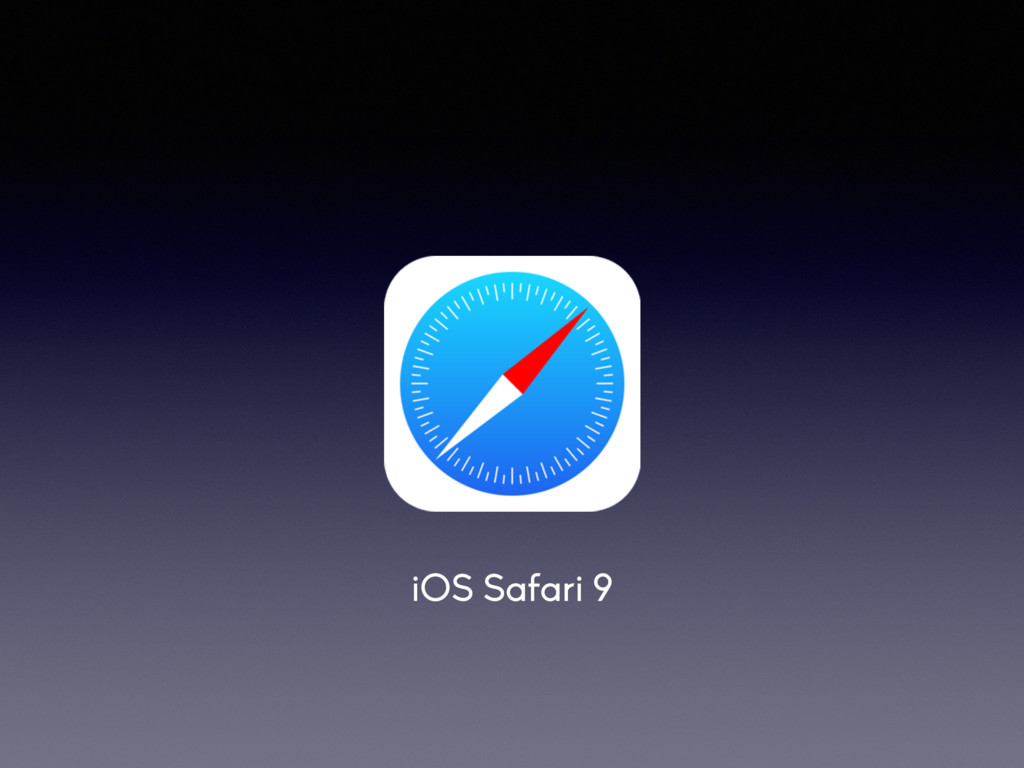 iOS Safari 9