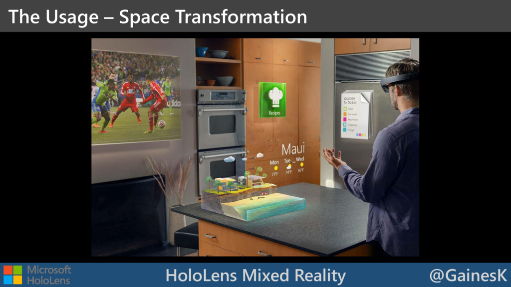 HoloLens Mixed Reality @GainesK The Usage – Spa...