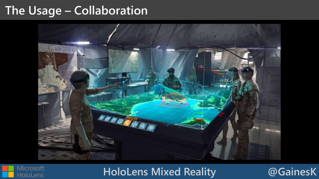 HoloLens Mixed Reality @GainesK The Usage – Col...