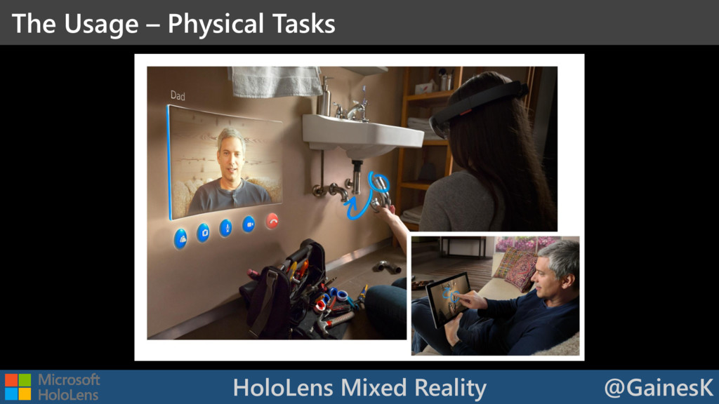 HoloLens Mixed Reality @GainesK The Usage – Phy...