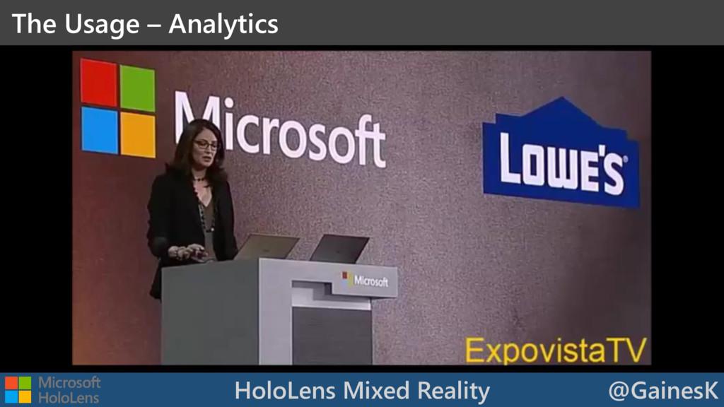 HoloLens Mixed Reality @GainesK The Usage – Ana...