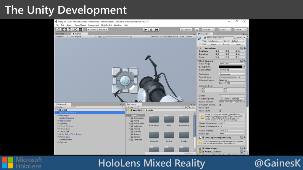 HoloLens Mixed Reality @GainesK The Unity Devel...