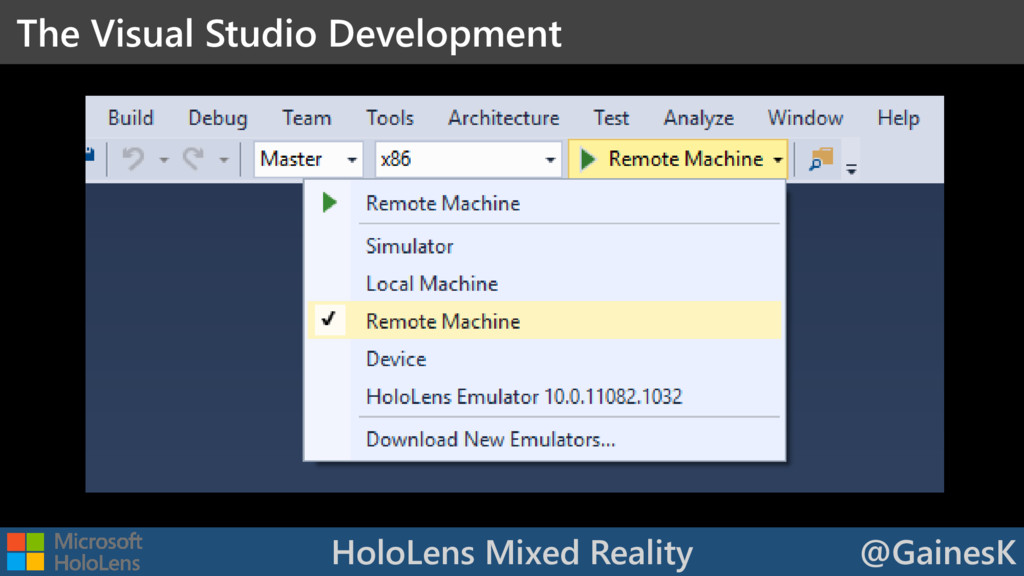 HoloLens Mixed Reality @GainesK The Visual Stud...