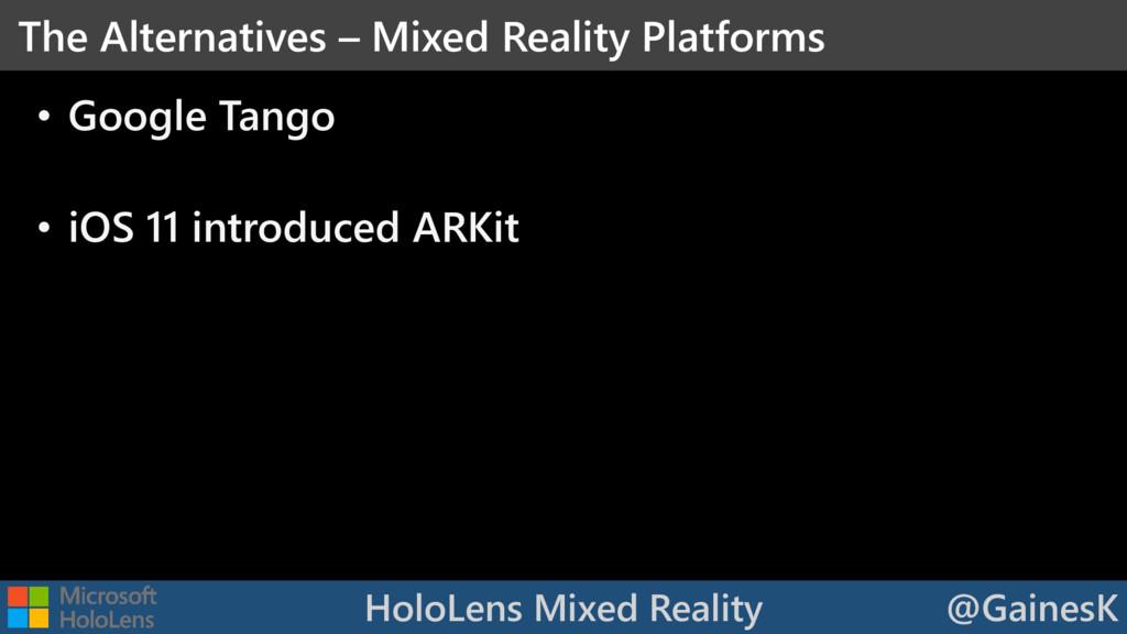 HoloLens Mixed Reality @GainesK • Google Tango ...
