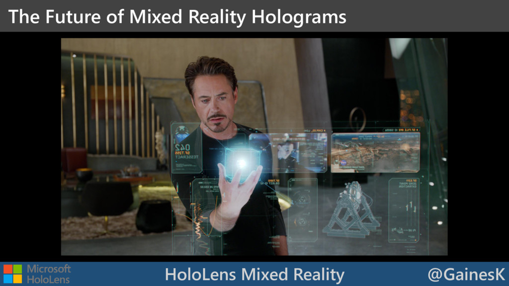 HoloLens Mixed Reality @GainesK The Future of M...