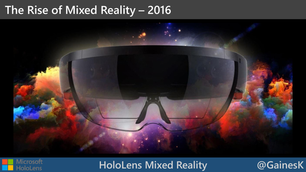 HoloLens Mixed Reality @GainesK The Rise of Mix...