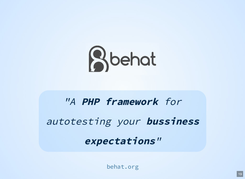 """A PHP framework for autotesting your bussiness..."