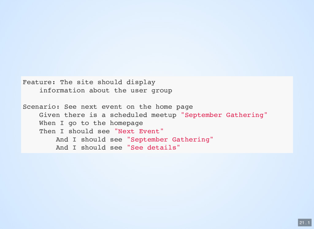 Feature: The site should display information ab...