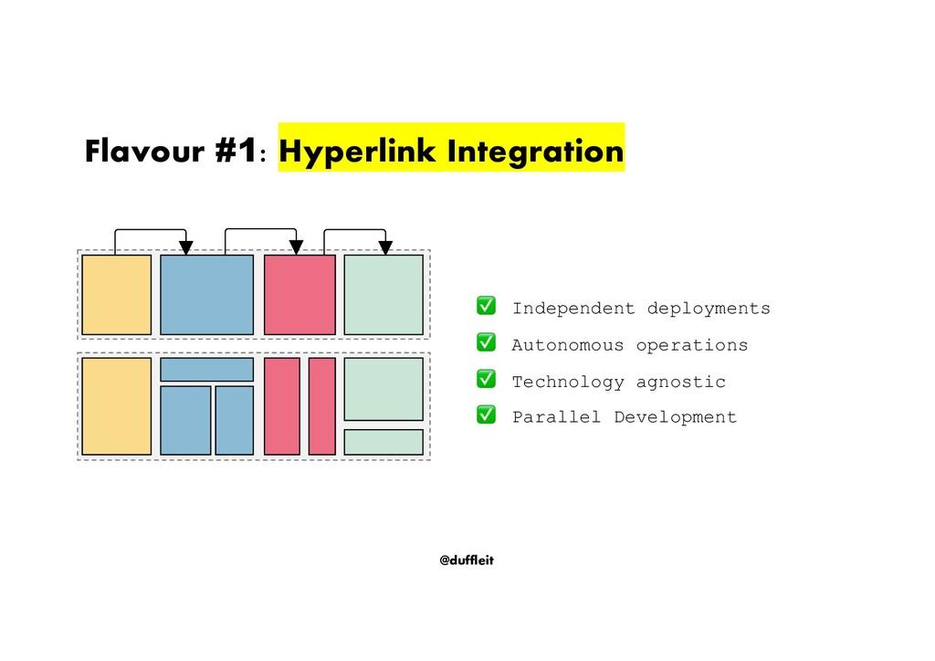 @duffleit Flavour #1: Hyperlink Integration Ind...