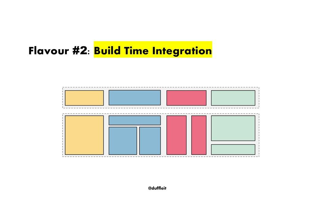 @duffleit Flavour #2: Build Time Integration