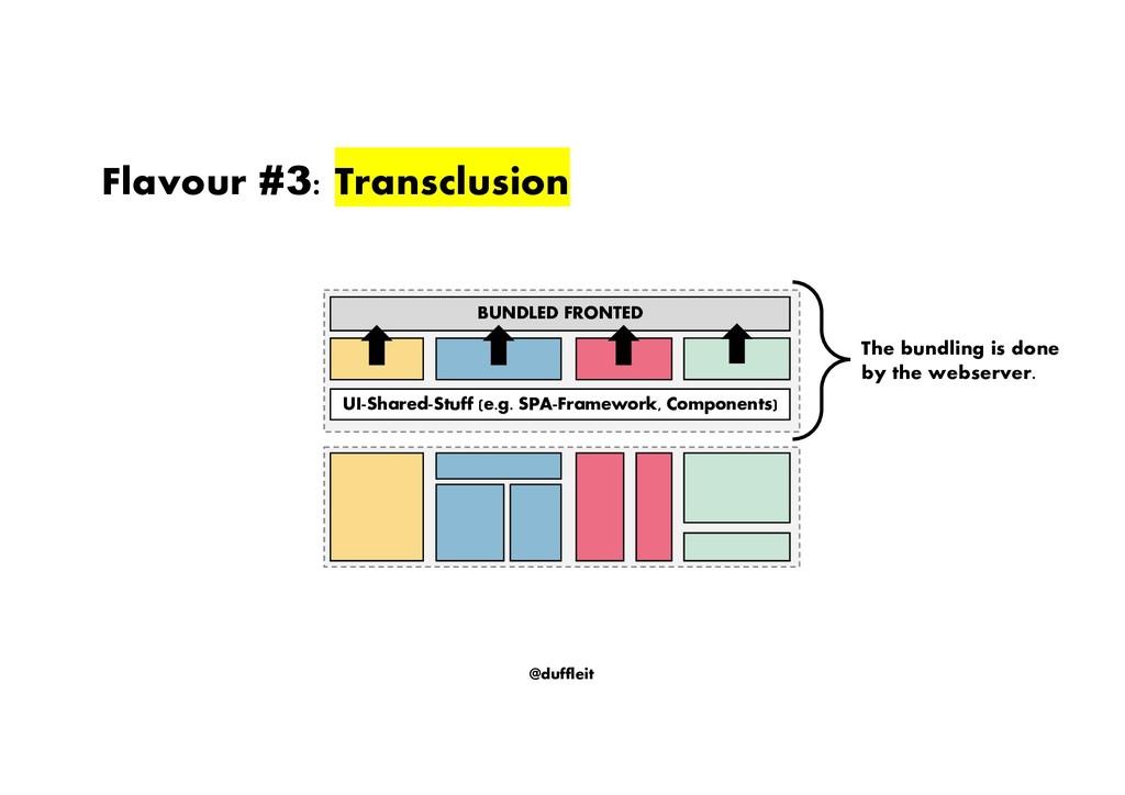 @duffleit Flavour #3: Transclusion BUNDLED FRON...