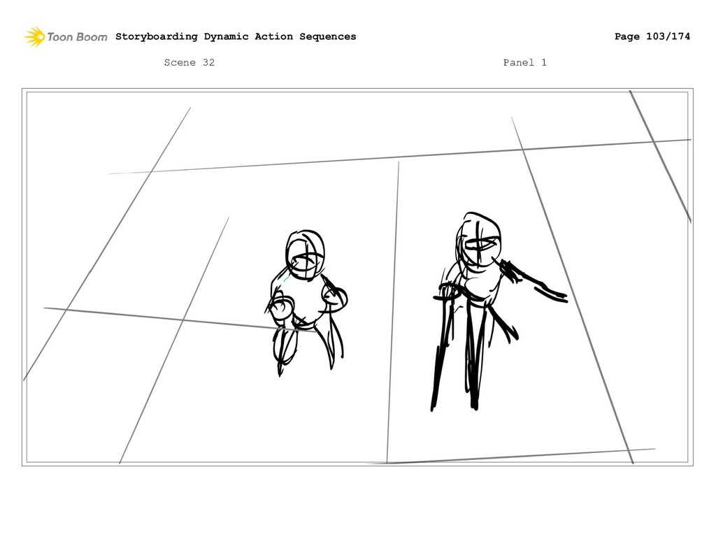 Scene 32 Panel 1 Storyboarding Dynamic Action S...