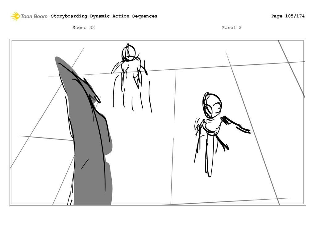Scene 32 Panel 3 Storyboarding Dynamic Action S...