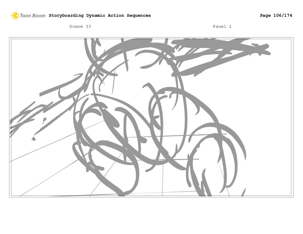 Scene 33 Panel 1 Storyboarding Dynamic Action S...