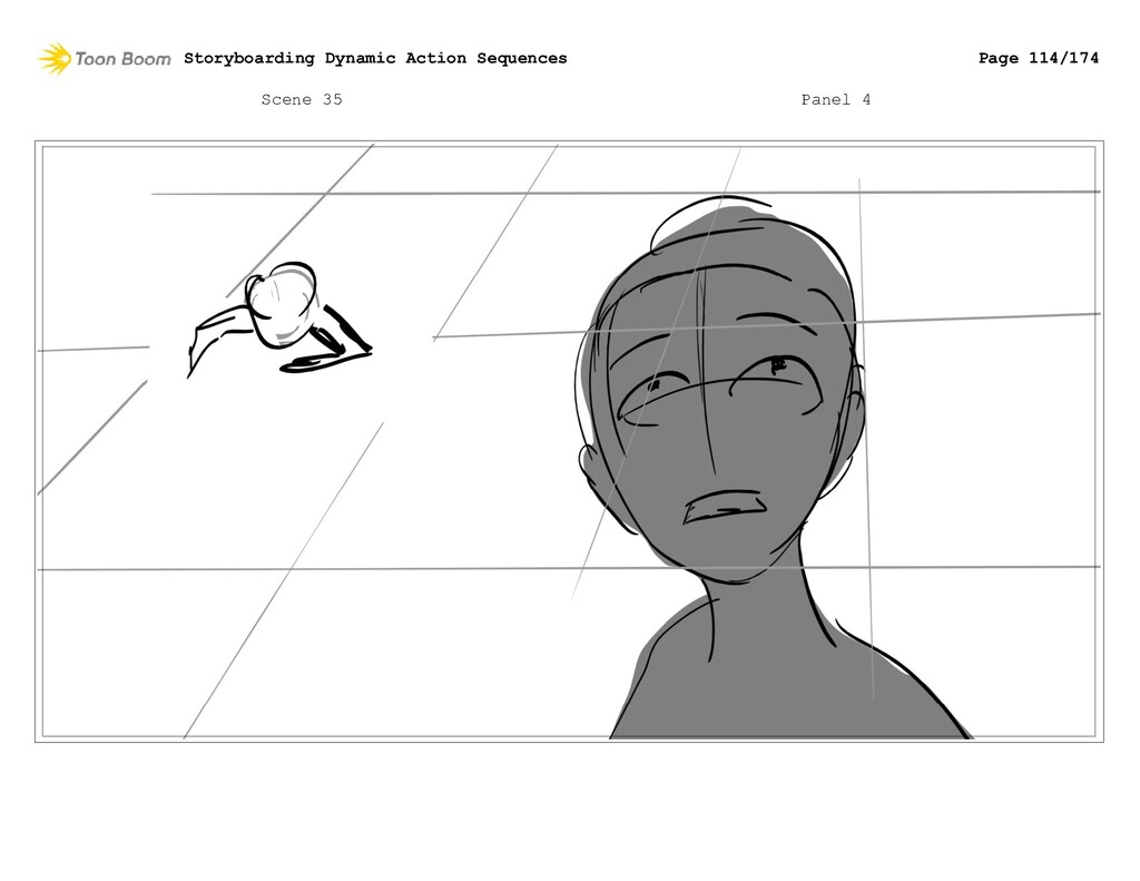 Scene 35 Panel 4 Storyboarding Dynamic Action S...