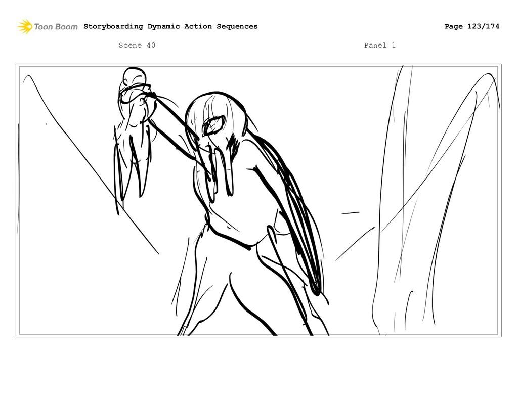 Scene 40 Panel 1 Storyboarding Dynamic Action S...
