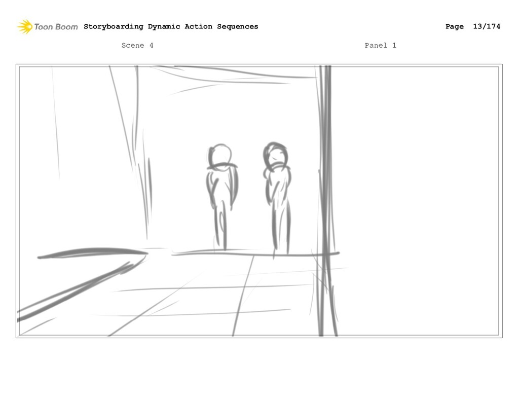 Scene 4 Panel 1 Storyboarding Dynamic Action Se...