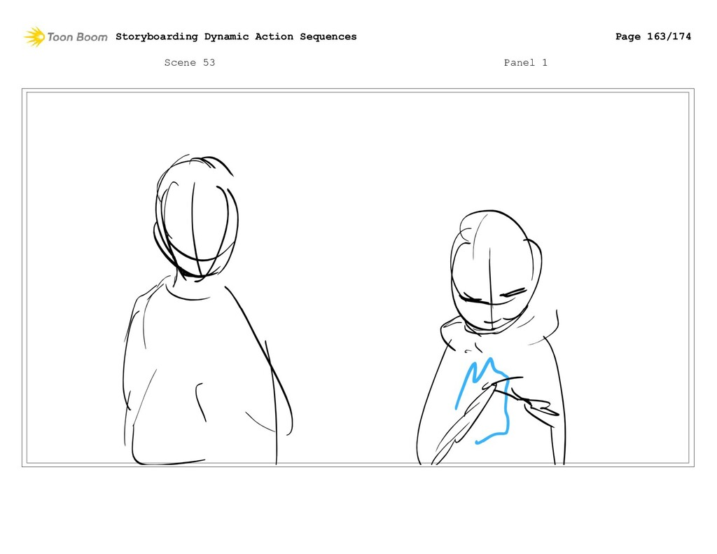 Scene 53 Panel 1 Storyboarding Dynamic Action S...