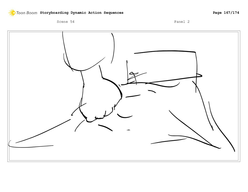 Scene 54 Panel 2 Storyboarding Dynamic Action S...