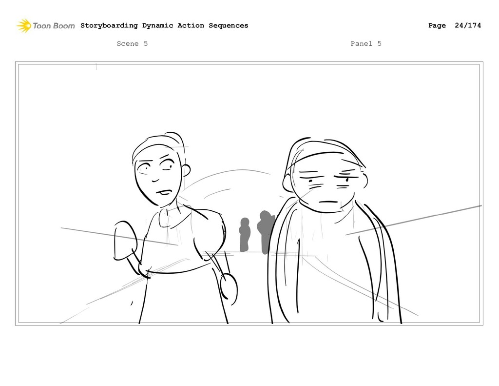 Scene 5 Panel 5 Storyboarding Dynamic Action Se...