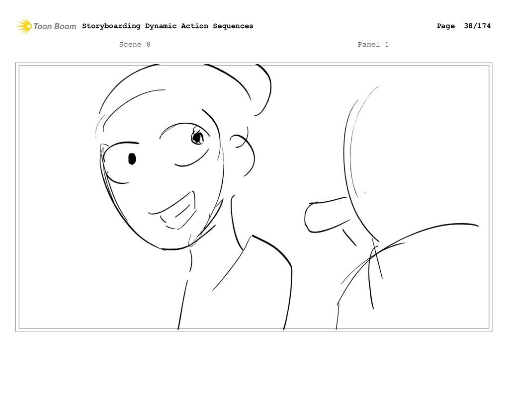 Scene 8 Panel 1 Storyboarding Dynamic Action Se...